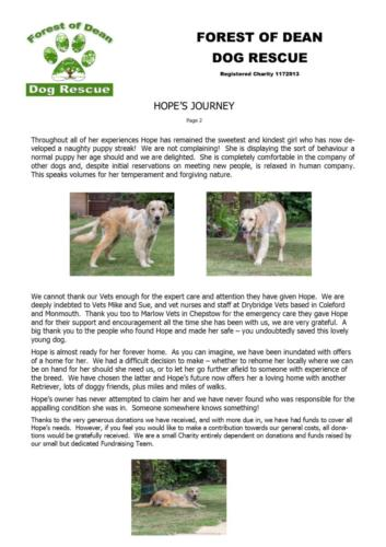 Hope's write-up and thank you Page 2